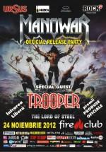 """Manowar Official Release Party """"The Lord of Steel"""" în Fire Club din Bucureşti"""