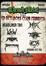 Romania Thrash Metal Fest în Club Fabrica din Bucureşti