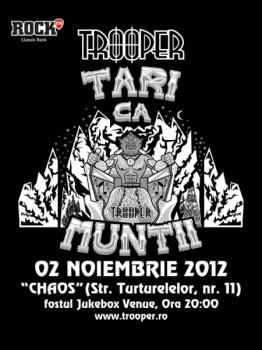 Concert Trooper în Chaos Venue din Bucureşti