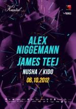Alex Niggemann şi James Teej în Kristal Club din Bucureşti