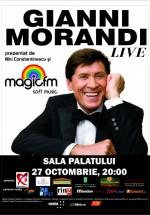 Concert Gianni Morandi la Sala Palatului din Bucureşti