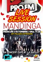 Concert Mandinga în AFI Palace Cotroceni din Bucureşti