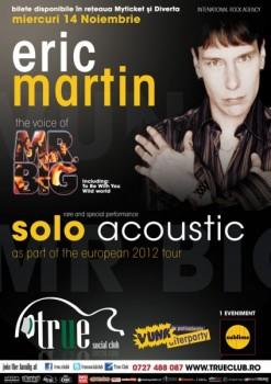 Concert Eric Martin în True Club din Bucureşti