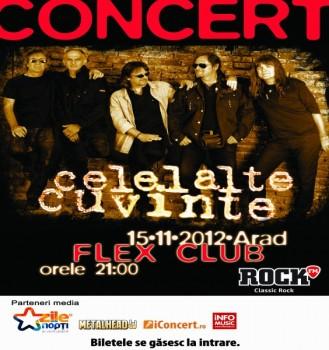 Concert Celelalte Cuvinte în Club Flex din Arad