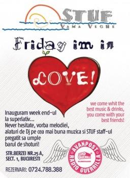 Friday I'm in Love în Stuf Vama Veche din Bucureşti
