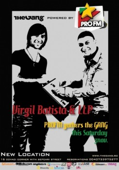 Virgil Batista şi DJ LLP în The Gang din Bucureşti