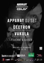 Apparat (DJ Set), Deetron şi Vakula la Arenele Romane din Bucureşti