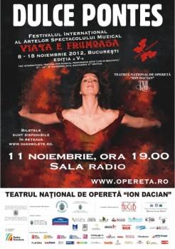 Concert Dulce Pontes la Sala Radio din Bucureşti