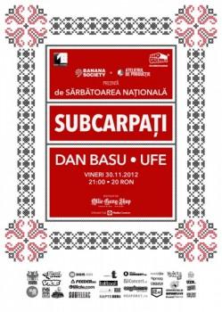 Concert aniversar Subcarpaţi în Atelierul de Producţie din Bucureşti