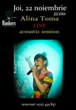Concert Alina Toma în The Bankers din Bucureşti