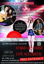 Stand Up & LIVE Acoustic în Zoom Cafe din Bucureşti