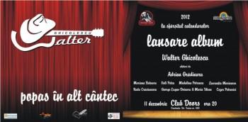 Lansare album Walter Ghicolescu în Club Doors din Constanţa