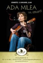 Concert Ada Milea în Godot Cafe-Teatru din Bucureşti