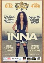 Concert Inna în Club Bamboo din Cluj-Napoca