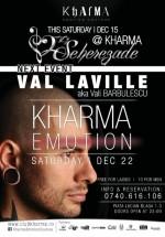 Val Laville în Club Kharma din Cluj-Napoca