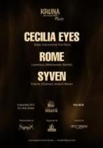Concert Cecilia Eyes, ROME, Syven la Centrul Cultural Reduta
