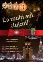 Revelion 2013 în Piaţa Avram Iancu din Cluj-Napoca