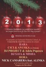 Revelion 2013 la Esplanada Palatului Culturii din Iaşi