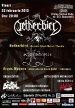 Concert Netherbird şi Argus Mergere în Ageless Club din Bucureşti