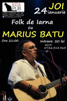 Marius Batu în Aida Cafe din Bucureşti