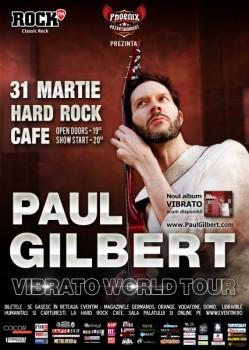 Concert Paul Gilbert la Hard Rock Cafe din Bucureşti