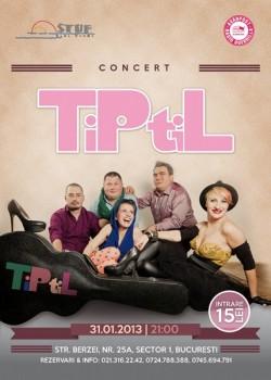 Concert TiPtiL în Stuf Vama Veche din Bucureşti