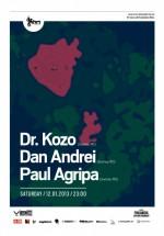 Dr. Kozo, Dan Andrei şi Paul Agripa în Studio Martin din Bucureşti
