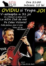 Concert Ovidiu Mihăilescu şi Trupa Joi în Aida Cafe din Bucureşti