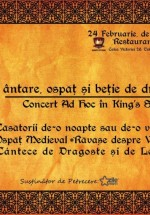 Concert Ad Hoc de Dragobete în King's Stone Restaurant din Bucureşti