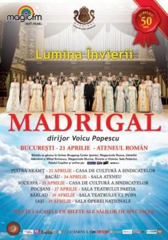 Turneu naţional aniversar Corul Madrigal – jubileu 50 de ani