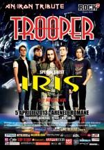 """Concert Trooper & Iris – """"An Iron Tribute"""" la Arenele Romane din Bucureşti"""