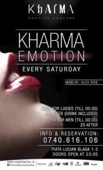 Kharma Emotion în Club Kharma din Cluj-Napoca