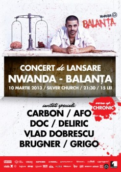 Concert – lansare album Nwanda în The Silver Church din Bucureşti