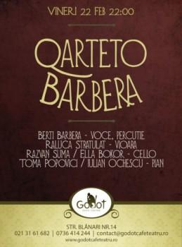 Concert Quarteto Barbera în Godot Cafe Teatru din Bucureşti