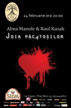 Concert Alina Manole & Raul Kusak în La Copac din Bucureşti