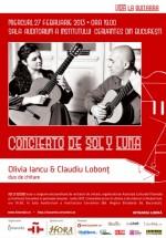 Concierto de Sol y Luna la Institutul Cervantes din Bucureşti