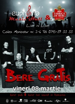Concert Bere Gratis în Euphoria Music Hall din Cluj-Napoca