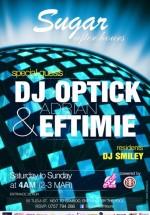 Adrian Eftimie şi DJ Optick în Club Sugar din Bucureşti