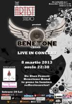 Concert Benetone Band în The Artist Studio din Bucureşti