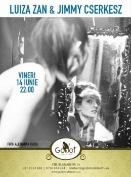 Luiza Zan şi Jimmy Cserkesz în Godot Cafe-Teatru din Bucureşti
