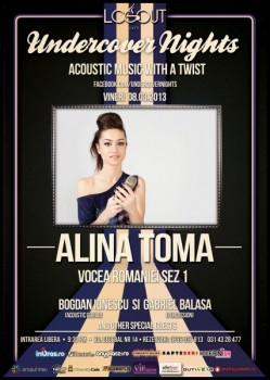 Concert Alina Toma în Log Out Cafe din Bucureşti