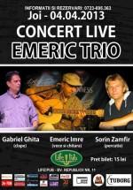 Concert Emeric Trio în LifePub din Timişoara