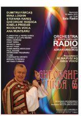 Concert Gheorghe Turda – 65 la Sala Radio din Bucureşti