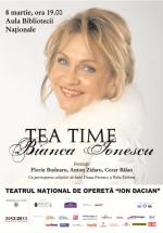 Concert Bianca Ionescu – Tea Time în Aula Bibliotecii Naţionale