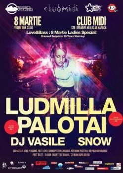 Ludmilla şi Palotai în Club Midi din Cluj-Napoca