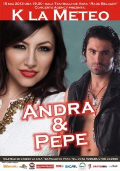 Concert Andra şi Pepe la Teatrul de Vară din Bacău