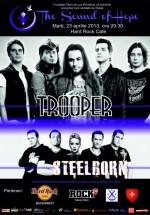 Concert caritabil Trooper şi Steelborn în Hard Rock Cafe din Bucureşti