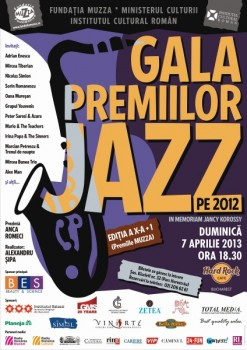 Gala Premiilor de Jazz 2012 – Premiile Muzza în Hard Rock Cafe