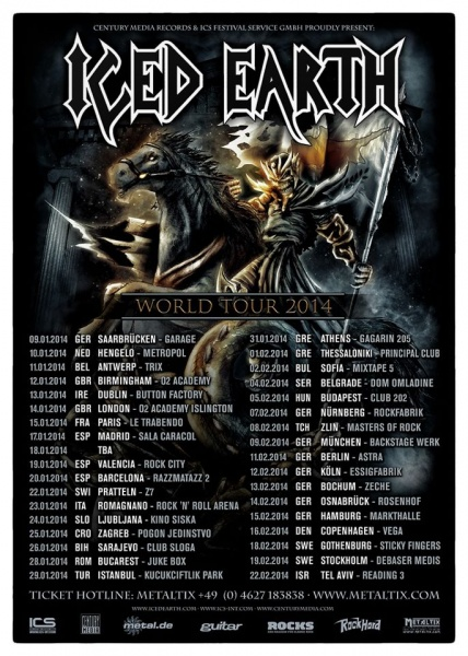 Iced Earth Tour 2014
