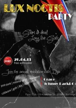 Lux Noctis Party în Panic! Club din Bucureşti